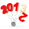 New year 2013 on a white background - Stock Photo