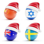 Christmas in Israel, China ,sweden,Australia — Zdjęcie stockowe