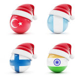 Christmas in Turkey, India, Guatemala, Finland — Stock Photo