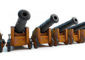 Old pirate cannons — Stock Photo