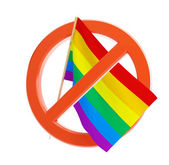 No gay and lesbian flag — Stock Photo