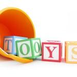 Baby toy bucket — Stock Photo
