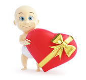 Baby gift heart on a white background — Stock Photo