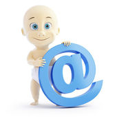 3d baby e mail sign — Stock Photo