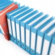 Stock Photo: Office folders, binder 3d Illustrations on a white background
