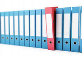 Office folders, binder 3d Illustrations on a white background — Stock Photo