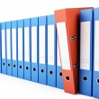 Office folders, binder 3d Illustrations on a white background — Stock Photo #21148837