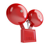 Fire alarm 3d Illustrations on a white background — Stock Photo