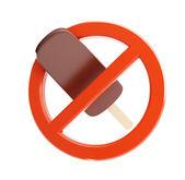 Zeichen-verbot eis 3d illustrationen auf weißem hintergrund — Stockfoto