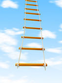 Escape ladder Stairway to Heaven on a white background — Stock Photo