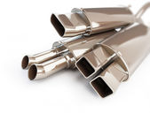 Exhaust silencer automobile muffler. 3d Illustrations on a white background — Stock Photo