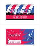 Barber Pole business cards . Vector illustration — Vector de stock