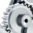 Stock Photo: Gears concept background