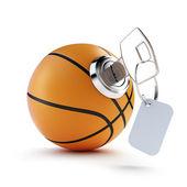 Balón de baloncesto clave sobre un fondo blanco — Foto de Stock