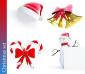 Christmas set on a white background — Stock Photo