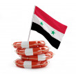 Help Syria on a white background — Stock Photo