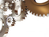 Gears abstract background. 3d Illustrations on a white background — 图库照片