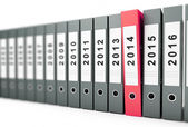 Office folders, binder new year 2014 on a white background — Stock Photo