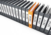 Binder new year 2014 on a white background — Stock Photo