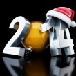Happy new year 2014 santa hat 3d Illustrations — Stock Photo #35546787
