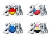 Elections in 2014 Germany, Czech Republic, European, Egypt — Zdjęcie stockowe