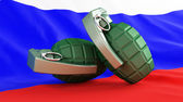 Grenades flag Russia — Stock Photo