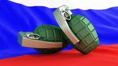 Grenades flag Russia — Stock Photo