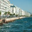 Main view on Thessaloniki embankment - Stock Photo