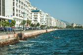 Hoofdweergave op thessaloniki embankment — Stockfoto