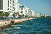 Main view on Thessaloniki embankment — Stock Photo