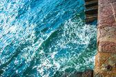 Quebra-mar - dique de pedra — Foto Stock