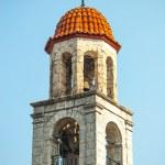 velha igreja no litichoro de cidade de montanha — Foto Stock #14060853