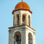 alte Kirche am Berg-Stadt-litichoro — Stockfoto #14060853