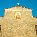 velha igreja no litichoro de cidade de montanha — Foto Stock #14616917