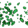 Stock Photo: Semi Transparent green Stones