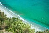 Sea coast with white sand — Stock Photo