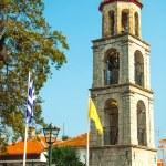 velha igreja no litichoro de cidade de montanha — Fotografia Stock  #16936513