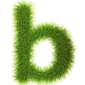 Grass style Latin Alphabet Letters and Numbers — Stock Photo