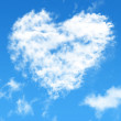 Blue sky with cloud style heart — Photo
