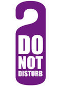 Do not disturb — Stock Vector