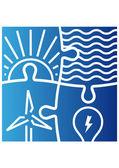 Teken van verschillende manieren om energie te produceren — Stockvector