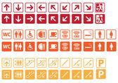 Navigation signs set — Wektor stockowy