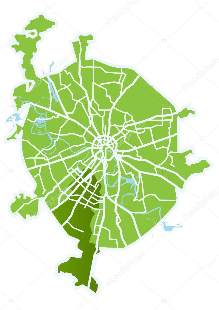 векторная карта москвы - фото 2