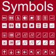 Navigation Symbols Set — Stock Vector