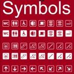 Navigation Symbols Set — Stock Vector