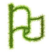 Grass style Symbol - Sign Isolated on white background — Stock Photo