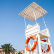 Stock Photo: Lifeguard station at beach