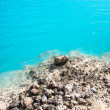 Amazing Blue lake among the sand and rocks — Stock Photo #24965811