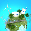 Energy Sources on Green Earth — Stock Photo #26874079