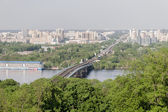 Kiev río paisaje urbano y dnieper, ucrania — Foto de Stock